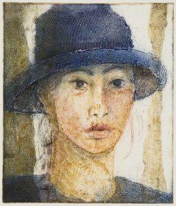Självporträtt, 27x23 cm, collografi