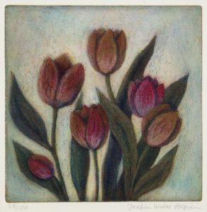 Tulipan, 17x17 cm, färgetsning